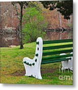 Spring On The Ponaganset River  Metal Print by Catherine Reusch  Daley