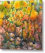 Spring Time Flowers Metal Print by Audrey Peaty