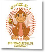 Spunky The Monkey Metal Print by John Keaton