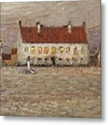 Square - Fort-philippe Metal Print by Henri Eugene Augustin Le Sidaner