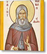 St Herman Of Alaska Metal Print by Julia Bridget Hayes