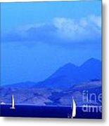 St Kitts Sailing Metal Print by Thomas R Fletcher