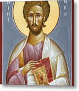 St Luke The Evangelist Metal Print by Julia Bridget Hayes