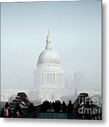 St Paul's Cathedral Metal Print by Pixel  Chimp