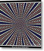 Stained Glass Kaleidoscope 49 Metal Print by Rose Santuci-Sofranko