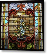 Stained Glass Lc 18 Metal Print by Thomas Woolworth
