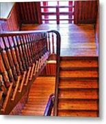 Stairway In Old Naval Hospital Metal Print by Steven Ainsworth