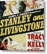 Stanley And Livingstone, Spencer Tracy Metal Print by Everett