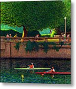 Stanley Park Scullers Poster Metal Print by Neil Woodward