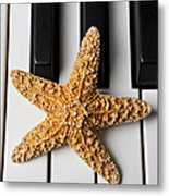 Starfish Piano Metal Print by Garry Gay