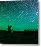 Starry Landscape Metal Print by Marius Sipa