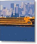 Staten Island Ferry Color 16 Metal Print by Scott Kelley