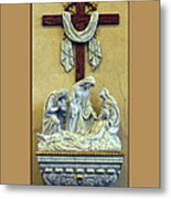 Station Of The Cross 13 Metal Print by Thomas Woolworth