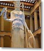 Statue Of Athena And Nike Metal Print by Linda Phelps