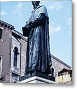 Statue Of Paolo Sarpi, Venetian Scientist Metal Print by Sheila Terry