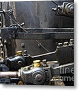 Steam Roller Engine Gizmos 7d15114 Metal Print by Wingsdomain Art and Photography