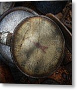Steampunk - Gauge For Sale Metal Print by Mike Savad