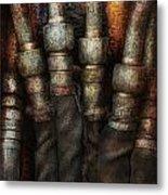 Steampunk - Pipes Metal Print by Mike Savad