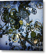 Steampunk Gears - Time Destroyed Metal Print by Paul Ward
