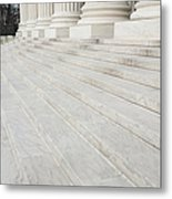 Steps Leading To The Supreme Court Metal Print by Roberto Westbrook