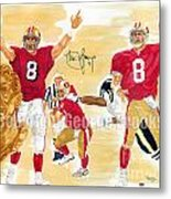 Steve Young - Hall Of Fame Metal Print by George  Brooks