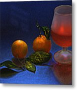 Still Life With Tangerins Metal Print by Vladimir Kholostykh