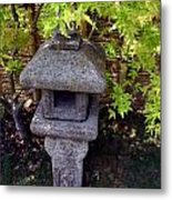 Stone Lantern Metal Print by Nina Fosdick