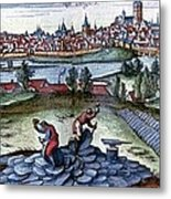 Stone Quarry, Historical Artwork Metal Print by Cci Archives