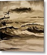 Stormy Arrival Metal Print by Scott Nelson