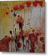 Straw And Seed Metal Print by Jorgen Rosengaard