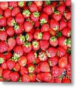 Strawberries  Metal Print by Yali Shi