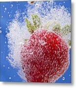 Strawberry Soda Dunk 1 Metal Print by John Brueske