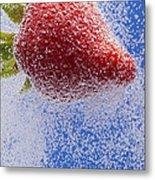 Strawberry Soda Dunk 2 Metal Print by John Brueske