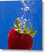 Strawberry Soda Dunk 5 Metal Print by John Brueske