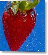 Strawberry Soda Dunk 7 Metal Print by John Brueske