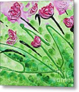 Stringy Tulips Metal Print by Ruth Collis