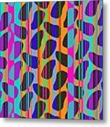 Stripe Beans Metal Print by Louisa Knight