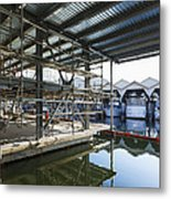 Structural Steel Construction Creating Metal Print by Don Mason