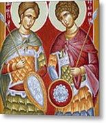 Sts Dimitrios And George Metal Print by Julia Bridget Hayes