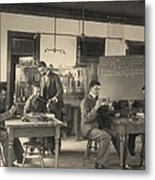 Students Constructing Telephones Metal Print by Everett