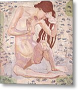 Study For Day Metal Print by Ferdinand Hodler