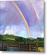 Summer Rain At The Ranch Metal Print by Rita Lackey