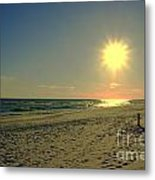 Sunburst At Henderson Beach Florida Metal Print by Susanne Van Hulst