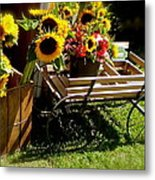 Sunflowers  Metal Print by Susan Elise Shiebler