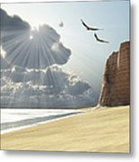 Sunlight Shines Down On Two Birds Metal Print by Corey Ford