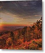 Sunrise 2-talimena Scenic Drive Arkansas Metal Print by Douglas Barnard