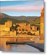 Sunrise In Collioure Metal Print by Brian Jannsen
