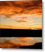 Sunrise Reflections Metal Print by Sara  Mayer