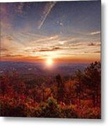 Sunrise-talimena Scenic Drive Arkansas Metal Print by Douglas Barnard