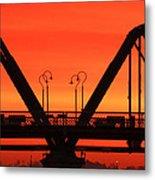 Sunrise Walnut Street Bridge Metal Print by Tom and Pat Cory